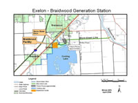 Site Map, Exelon - Braidwood Generation Station