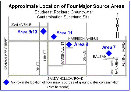 Map: Approximate Location of Four Major Source Areas