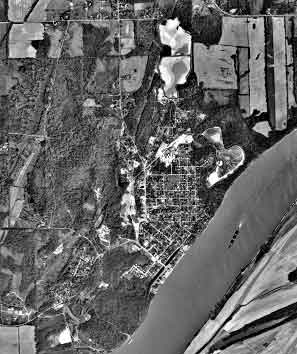 Aerial photograph, Rosiclare Mine, Hardin County Illinois