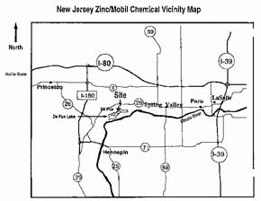 Vicinity Map - New Jersey Zinc site
