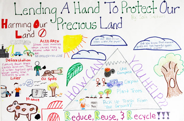 causes of land pollution for kids
