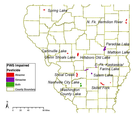 Impaired Watersheds Map